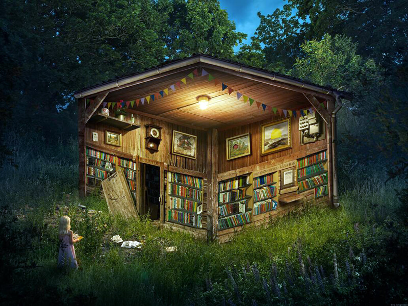 The Forest Library by alltelleringet