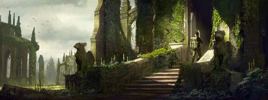 The Forest Ruins by aJVL