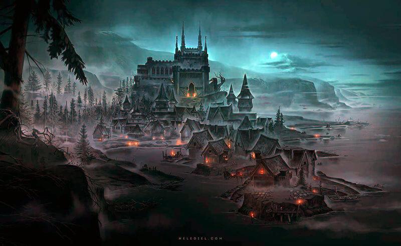 The Necromancer's Castle by Nele-Diel