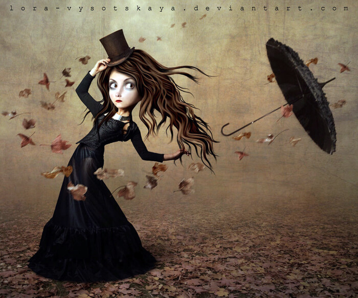 The Runaway Umbrella by Lora-Vysotskaya