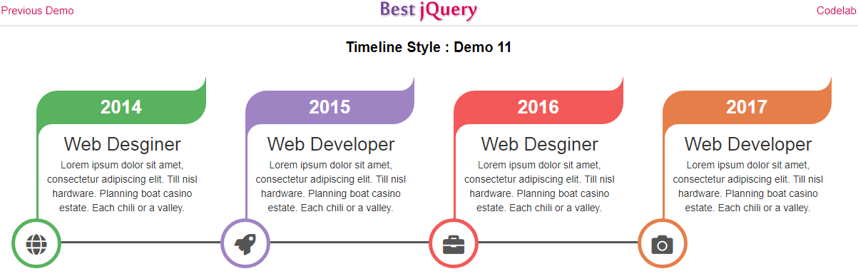 CSS Timeline Style 11