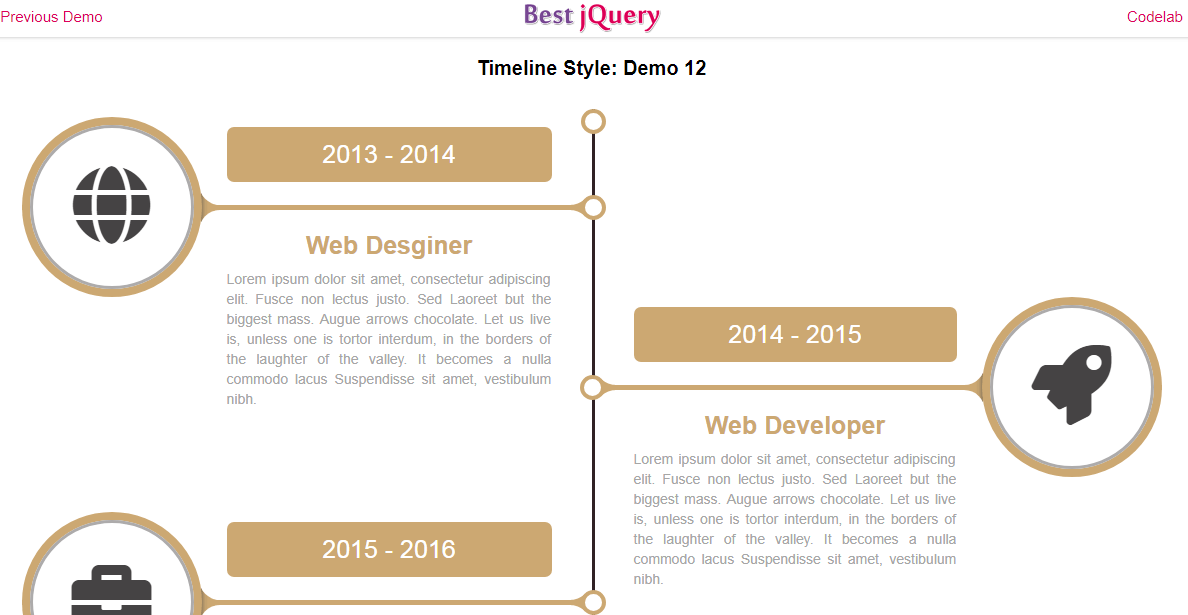 CSS Timeline Style 12