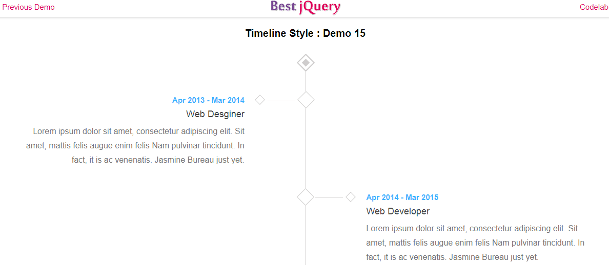 CSS Timeline Style 15