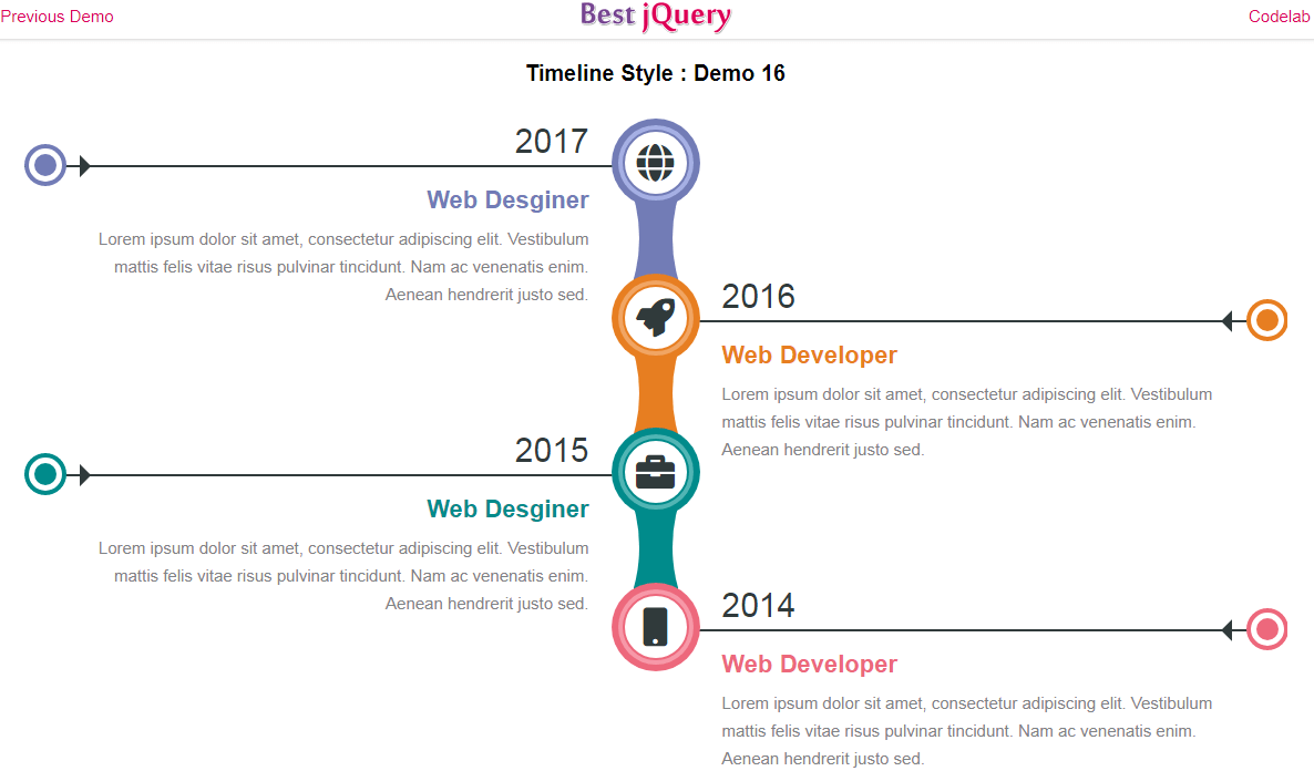 CSS Timeline Style 16