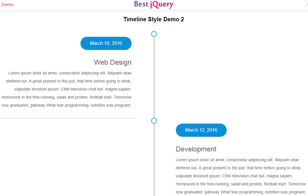CSS Timeline Style 2
