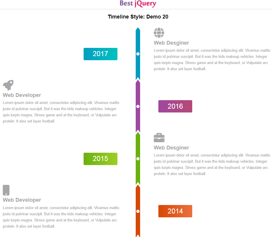 CSS Timeline Style 20