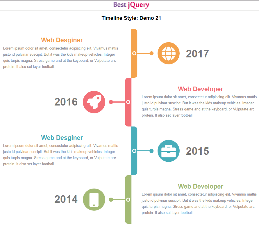 CSS Timeline Style 21