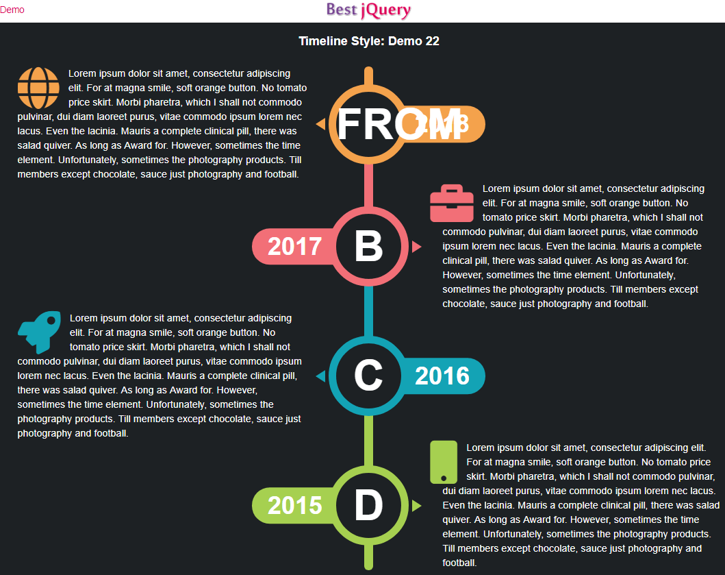 CSS Timeline Style 22
