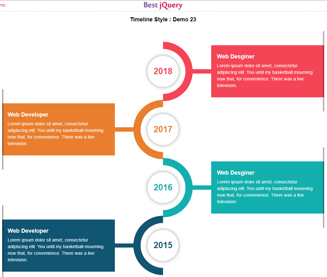 CSS Timeline Style 23