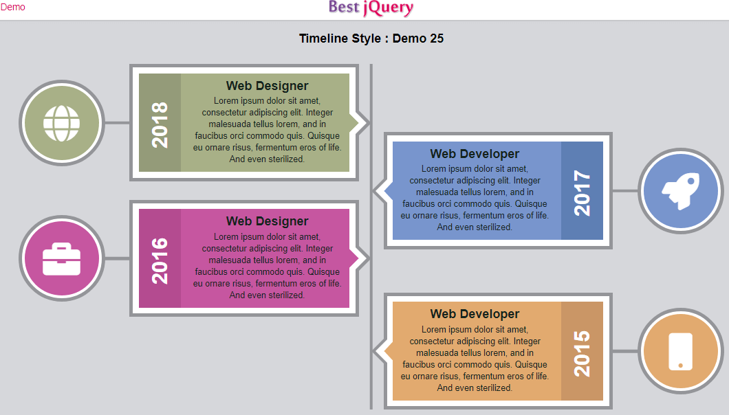 CSS Timeline Style 25