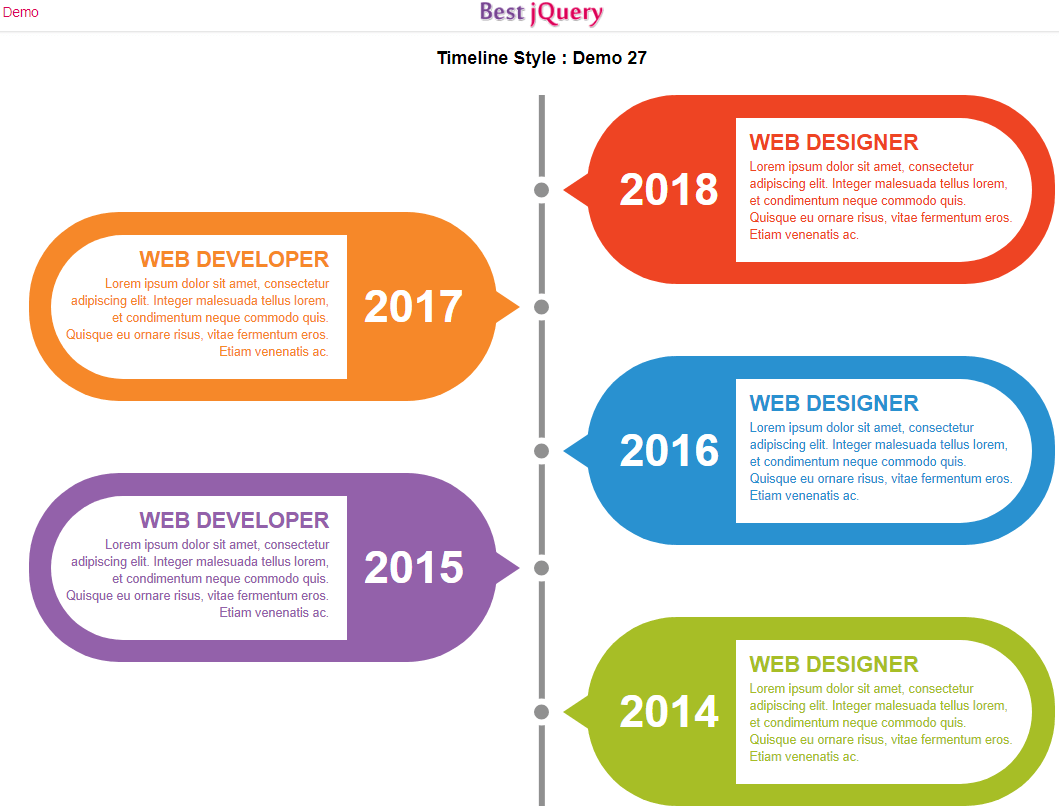 CSS Timeline Style 27