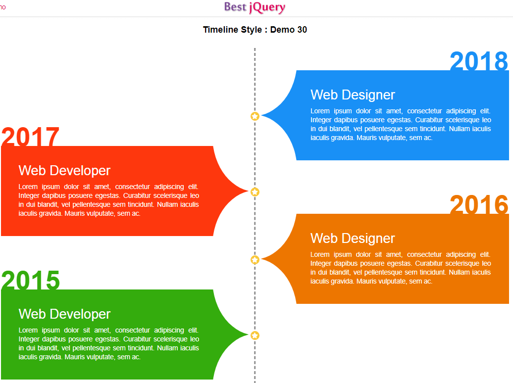 CSS Timeline Style 30