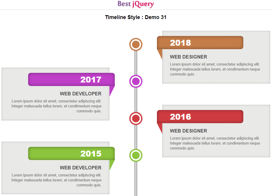 CSS Timeline Style 31