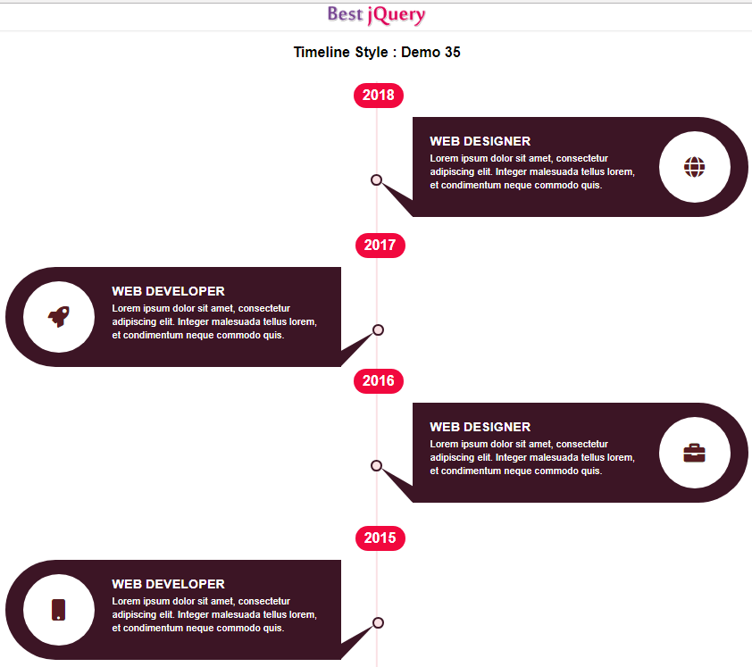 CSS Timeline Style 35
