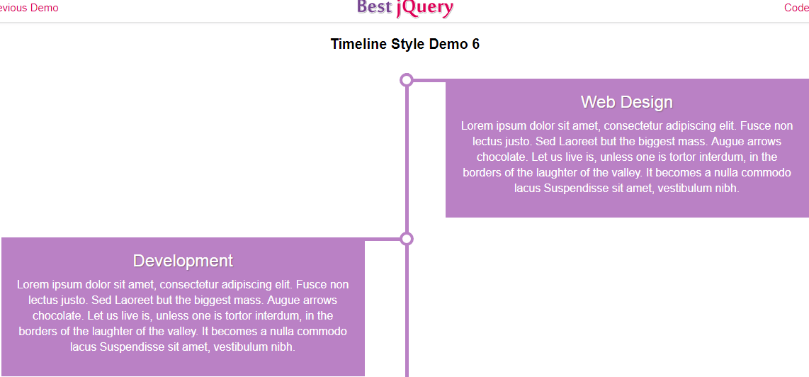CSS Timeline Style 6