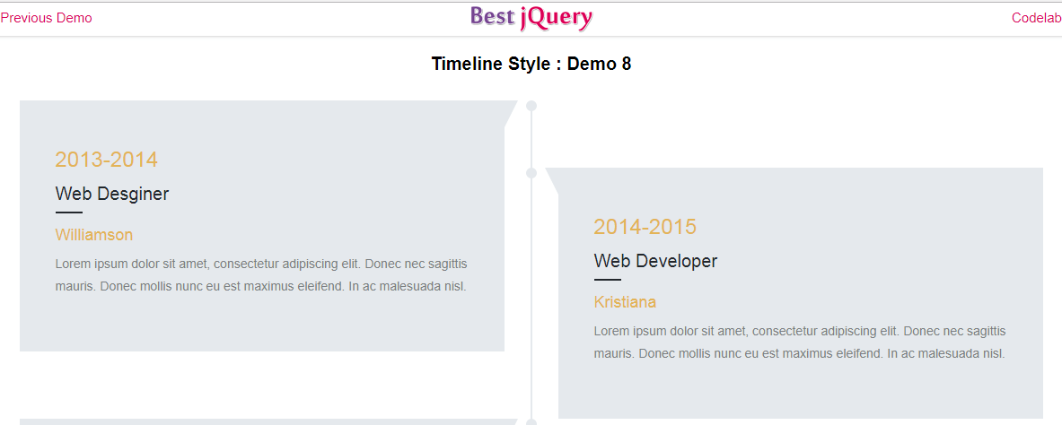 CSS Timeline Style 8