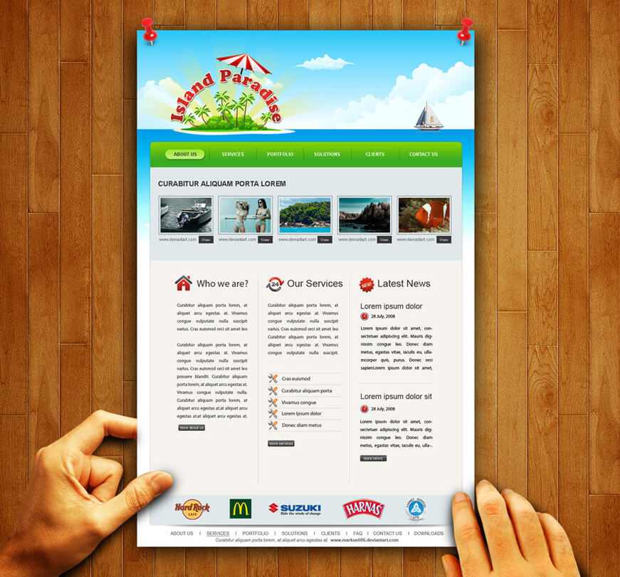 Travel and Tours Web Template by ~Markus606