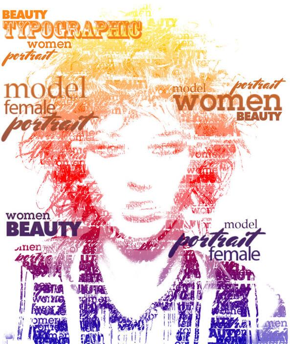 Typographic Portrait like Grammy's Posters