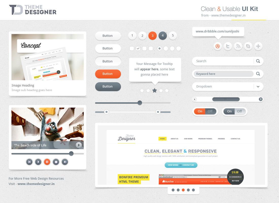 UI kit Freebies By Themedesigner.inby NiravJoshi