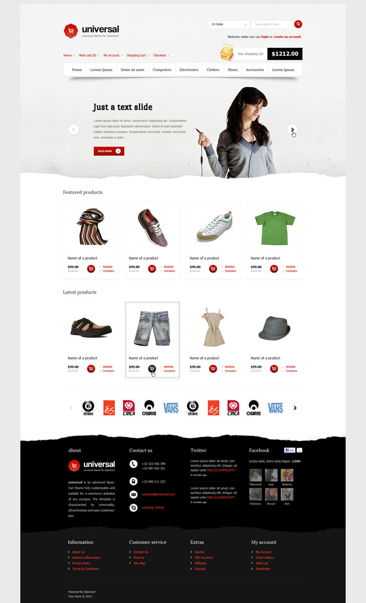 Universal - OpenCart Premium Theme by SlaYerprk