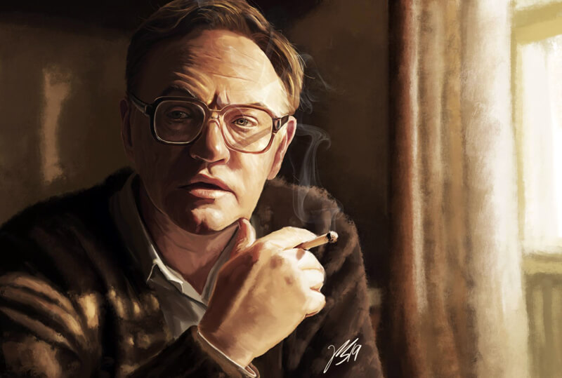 Valery Legasov Chernobyl Digital Painting by OfficerMeowMeow
