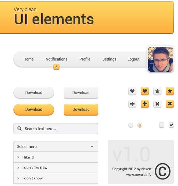 Very clean UI elements by Nexert
