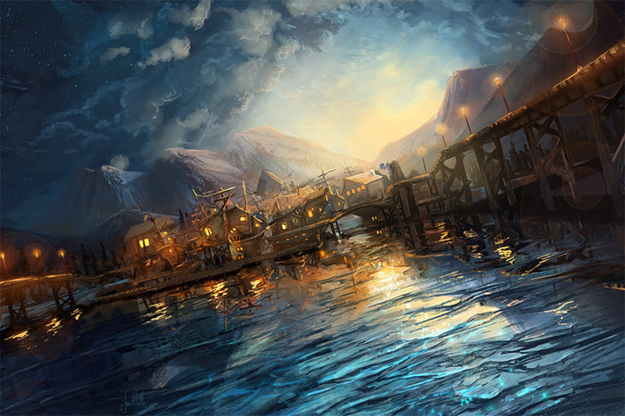 Village Lake by chateaugrief
