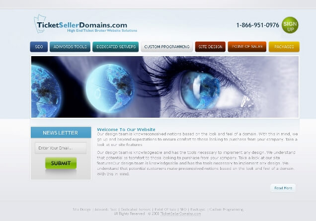 TickketSellerDomains.com Web 2.0 Template by princepal