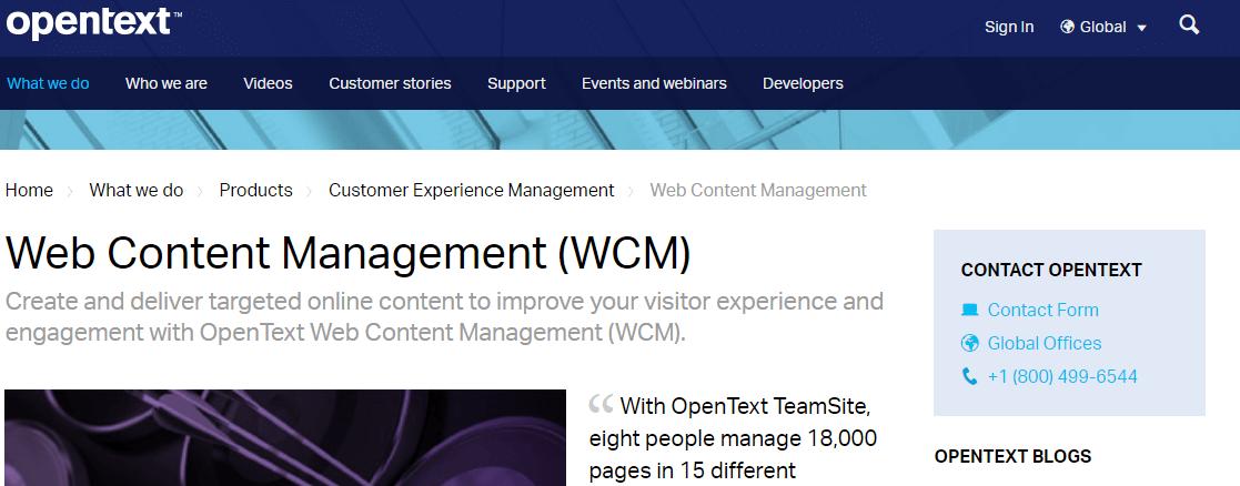 OpenText Web Solutions