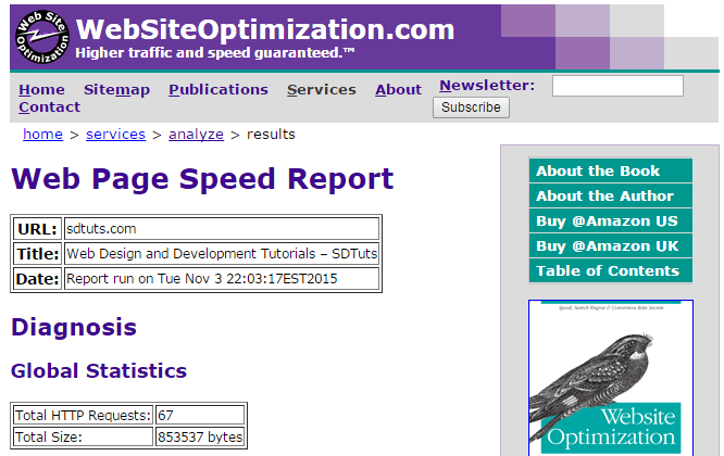 Web Site Optimization: Speed Up