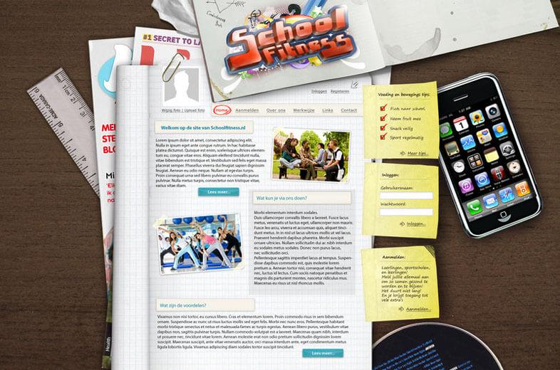 Webdesign deskview by ~VprNL