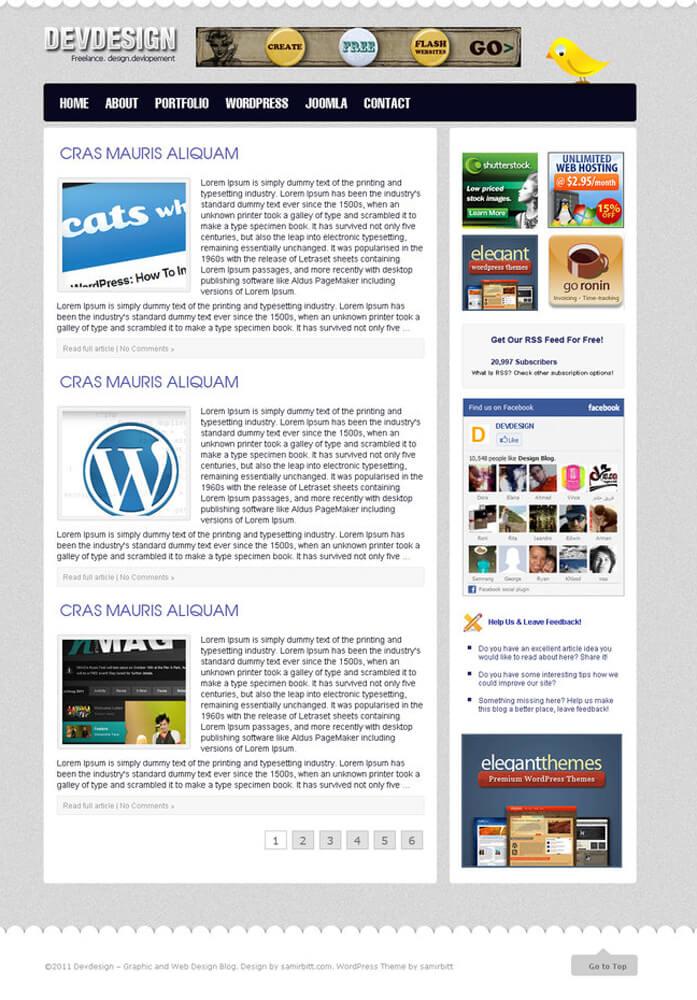 Wordpress Design by samirbitt16