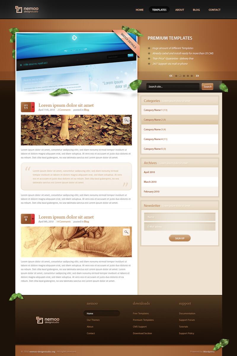 Wordpress Theme I - Sold by AndasoloARTS