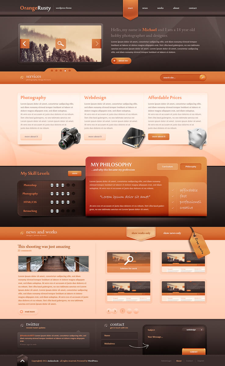Wordpress Theme II - Sold by AndasoloARTS