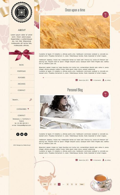 Wordpress Theme - Ladies by niedziela2005