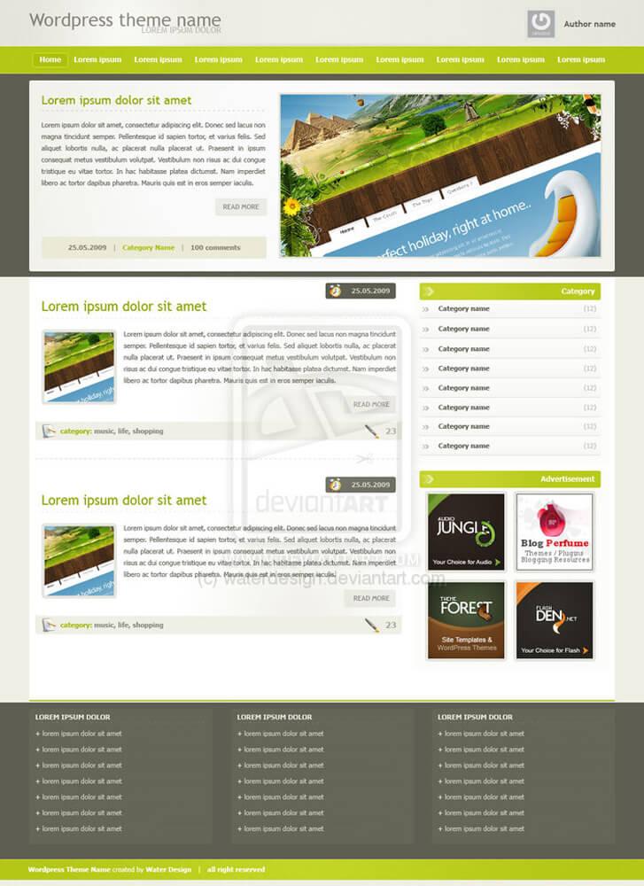 Wordpress Theme by waterdesign