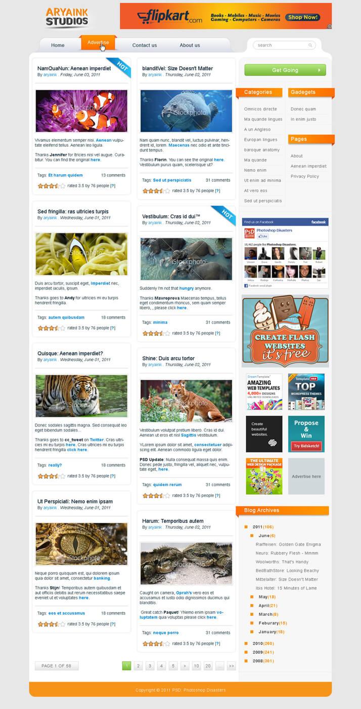 Wordpress White by AryaInk
