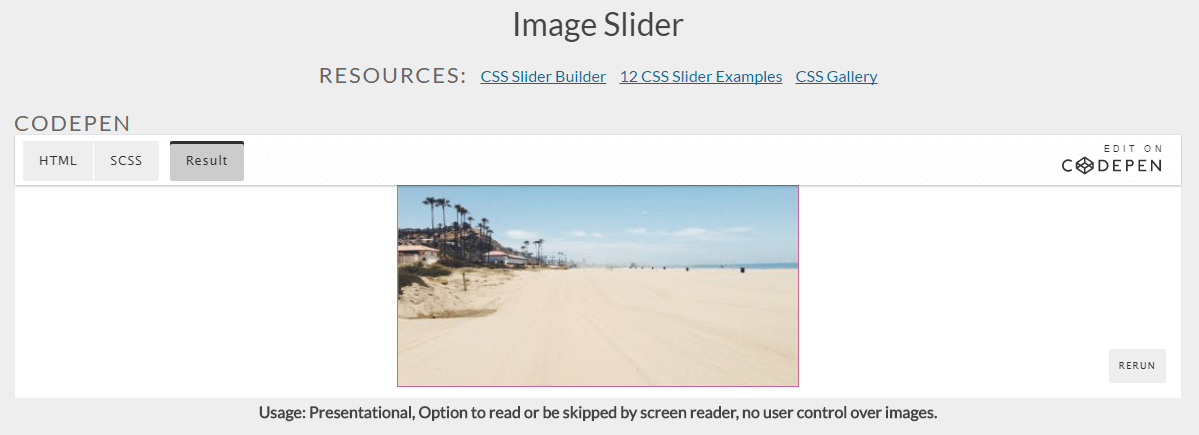 You Might Not Need Javascript - Image Slider