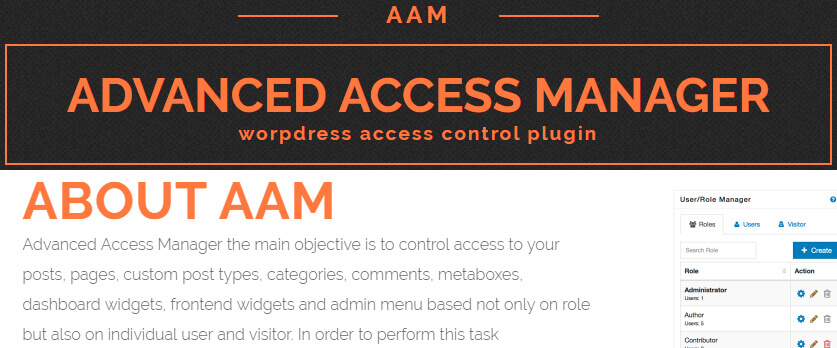advance access manager - AAM wordpress access control plugin