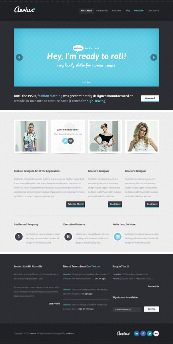 aerius PSD Template by tritube