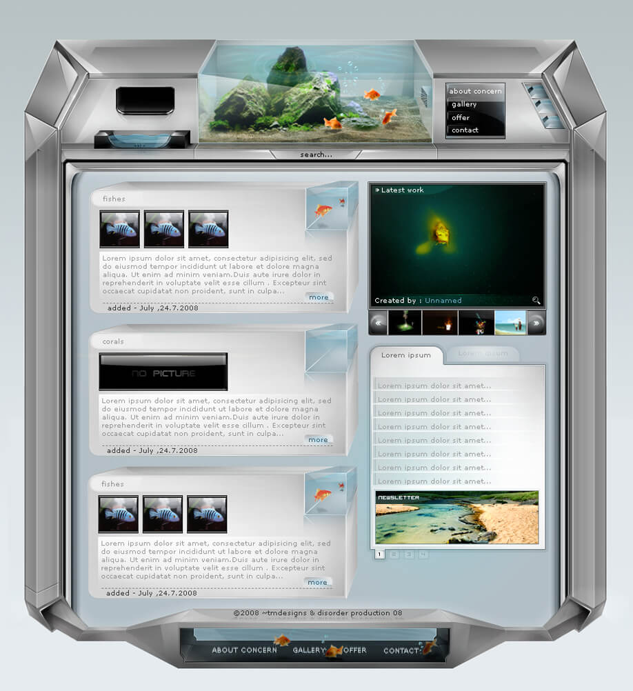 aqua interface by Etn1spi