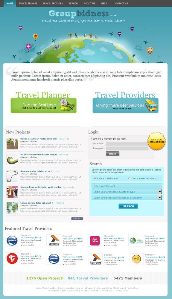 Group bidness biding website by vinoyd