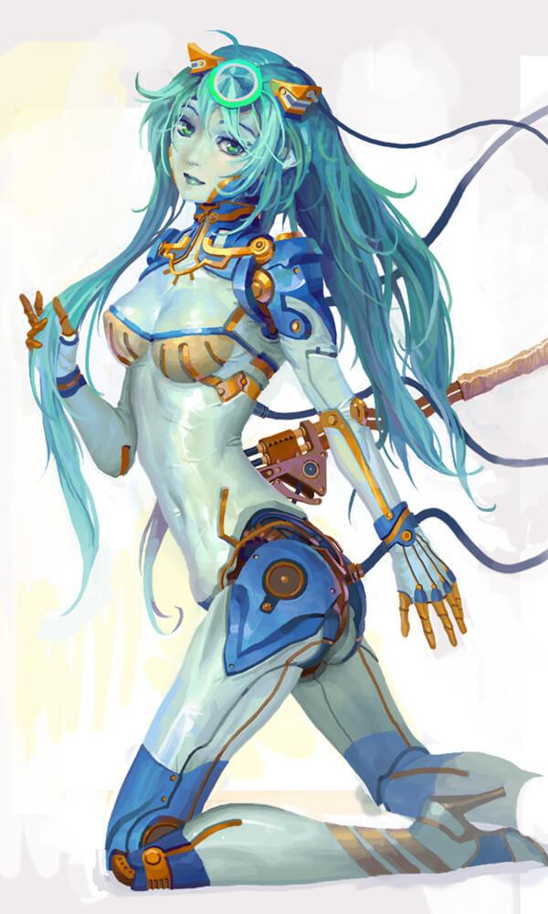blue robot by ~molybdenumgp03