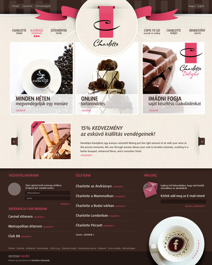 cake and coffe shop site by arkantal