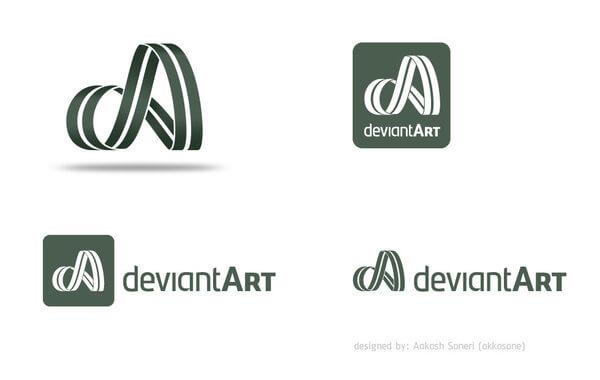 deviantART logo Design by akkasone