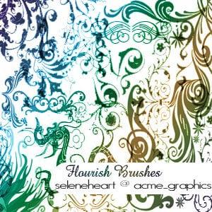 flourishes brushes by seleneheart