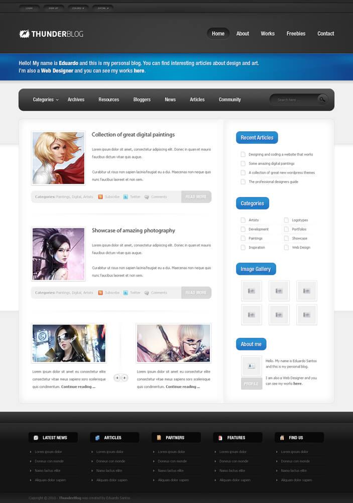 ft WordPress Theme Designs P1