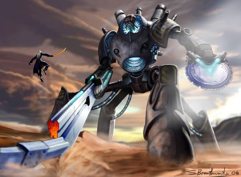 giant robot by warlordwardog