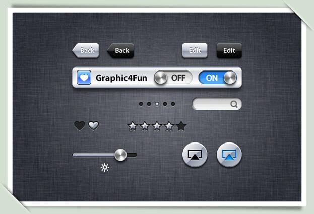 iOS UI Design Kit by Gianluca75