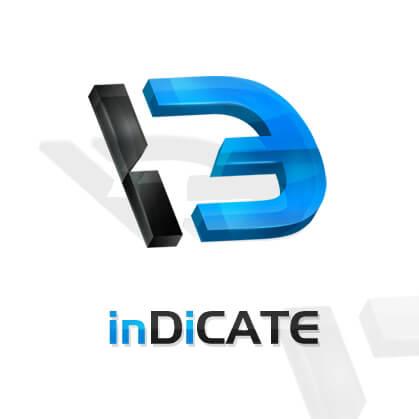 inDiCATE logo design by dsquaredgfx